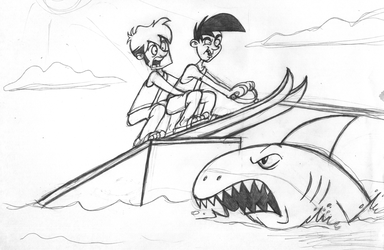 Jumping the Shark by anotherblazehedgehog