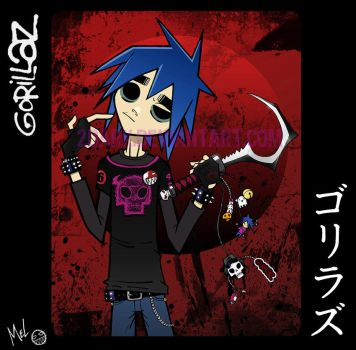 Gorirazu - Gorillaz - 2D by 2Dark