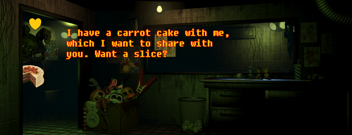 Springtrap wants to share his cake with you by CutiePieLittleMe