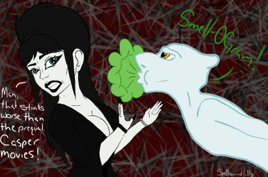 Elvira and Stinkie Request by SpellboundCafe