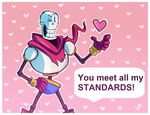 Papyrus STANDARDS Valentine's Card by VexyFate