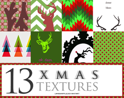 13 Modern Christmas Textures by lambwaffle