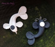 Yin Yang Koi by SerenityWireDesigns