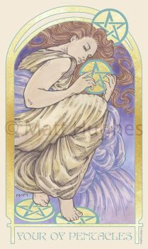 4 OF PENTACLES by matthughes