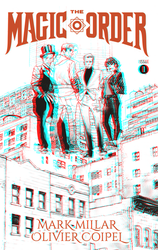 The Magic Order in B and W in 3D Anaglyph by xmancyclops