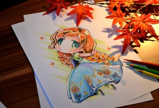 Chibi Anna Frozen Fever by Lighane