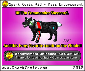 Spark Comic 50 - Mass Endorsement by SuperSparkplug