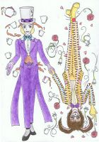 AIW: Hatter x Hare by DracoAries