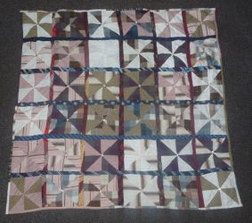 Pinwheel quilt FINISHED front by BellaGBear
