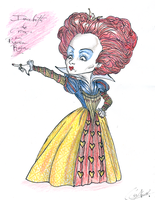 Helena Bonham Carter-Red Queen by DemonCartoonist