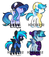 Moon Swirl x Ice Peak adopts [CLOSED] by Icicle212