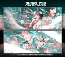 //SHARE PSD// HAPPY+300 WATCHERS by JudilsGoer