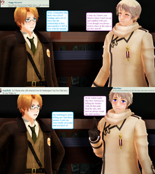 Ask RusAme Question 9: Dislikes about each other by MMD-AskRusAme