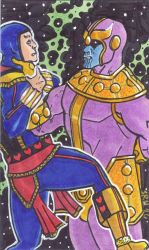 Thanos and Jack of Hearts by mmmmmpig