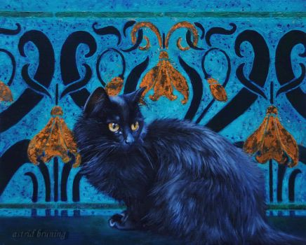 Le Chat Nouveau - Oil Painting by AstridBruning