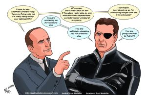 TLIID 313. Coulson and Hasselhoff's Nick Fury by AxelMedellin