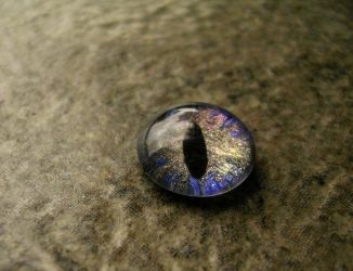 Loose Dragon Eye - Rainbow Blue Red Gold Gray by LadyPirotessa