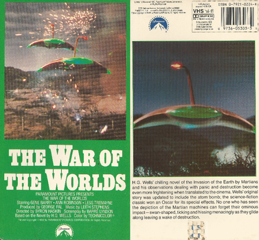 THE WAR OF THE WORLDS 1952 on good 'ol VHS by DARKZADAR-ZERO