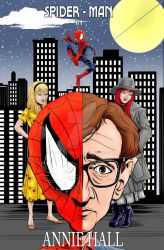 Spider-man/ Woody Allen parody cover Final- Colore by Soussherpa