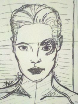 Seven of Nine - A Sketch by KaterinaDeAnnika