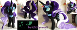 Nightmare Rarity Plush by My-Little-Plush