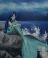 Crying Mermaid by The-art-side-of-life