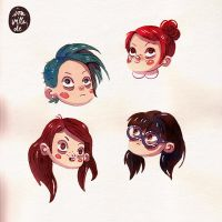 head doodles by Iraville