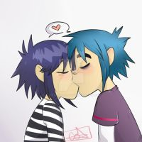noodle x 2d kiss by criss-coto