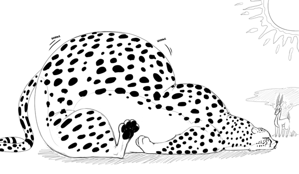 Stuffed Cheetah by heartman98
