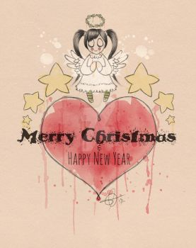 Angel Christmas Card by Astral-Dragon