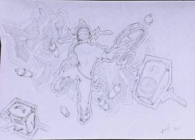Sketch inspirado em Jet Set Radio! by dxlucasxb