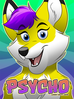 Psycho Badge by blake-illustrate