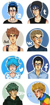 social networks: humanized 1 by MindlessKate