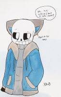 Sans with Cat Ears by ShadAmyfangirl129