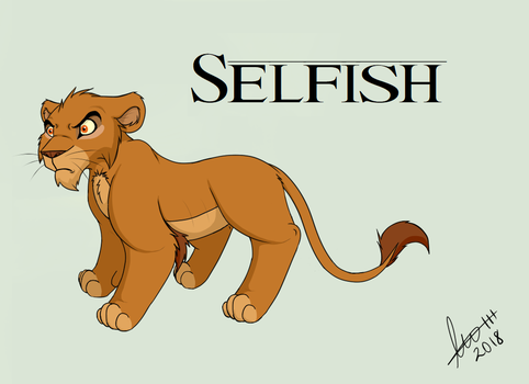The Selfish Lion as a cub by Kopa-Love