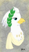 Silver Quill Roman/Greek/Crystal Empire style  by RuthPainter