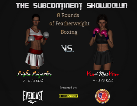Prisha vs.  Virani   The Fight Poster by AlexBoxer