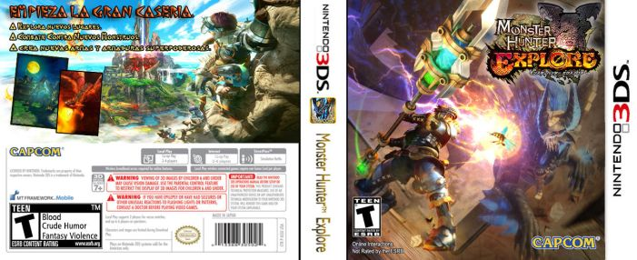 FanMade CoverArt:Monster Hunter Explore.(3DS) by MegaSpinax341