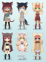 [CLOSED] Nekomimi Collab Adopts by WanNyan
