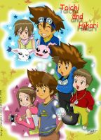 Digimon-Yagami siblings by Asphil