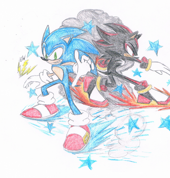 The Ultimate Lifeform And His Shadow by thesoniczone11