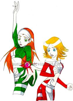 Clover et Sam Totally Spies by Auro0109