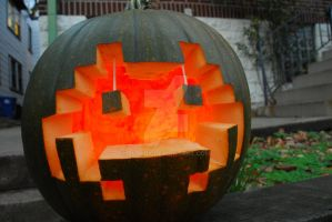 Space Invader Pumpkin by blorbx