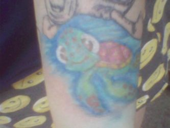 almost finished with my wife's squirt tattoo by bonkey-666