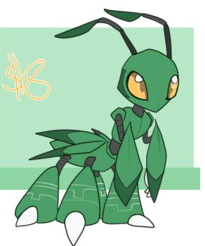 [a] Praying Mantis Digimon [$8 USD - CLOSED] by glitchgoat