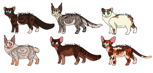 Cat Adopts 20 [1/6 OPEN] by RibbonWren-Adopts