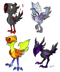 Chocobos as Kingdom Hearts Monsters by ZllP