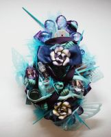 blue butterflies brooch by queenofexecutions