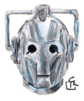 Cyberman - Quick Painting by HeroFromMars