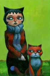 Portrait of Cat by jasinski